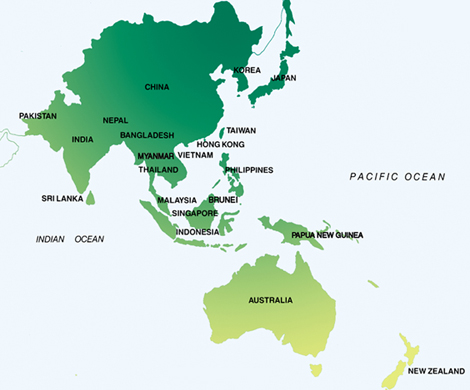 AsiaPacific Cost Of Living Rankings For April Expatriate - Asia pacific map with country names